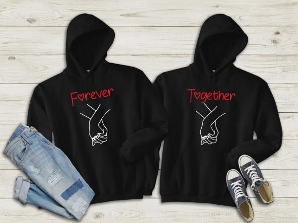 Hanorace cuplu personalizate - Together forever 0