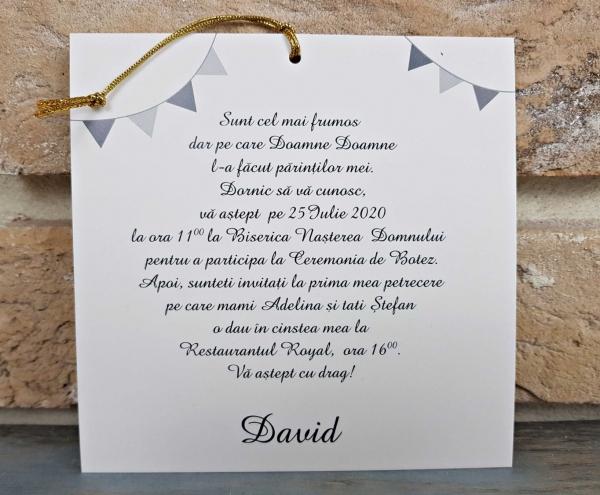 Invitatie Botez cod 8047