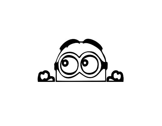 Sticker Auto - Peeking Minion