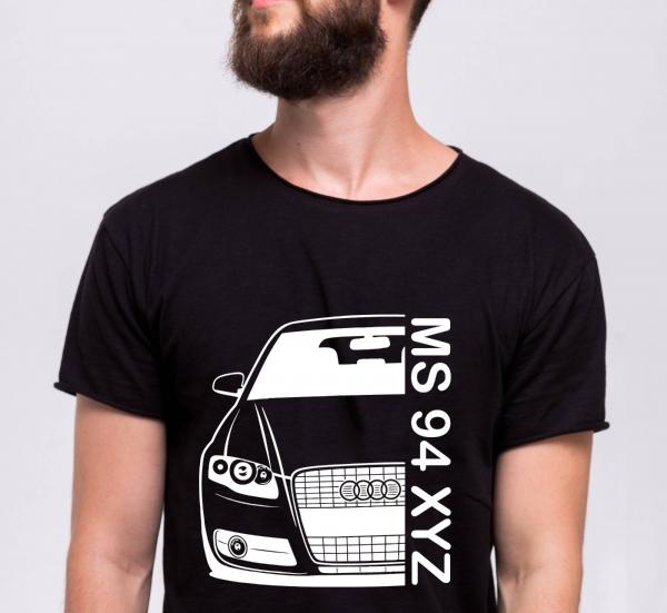 Tricou Personalizat Auto - AUDI A4 B7 cu nume sau numar