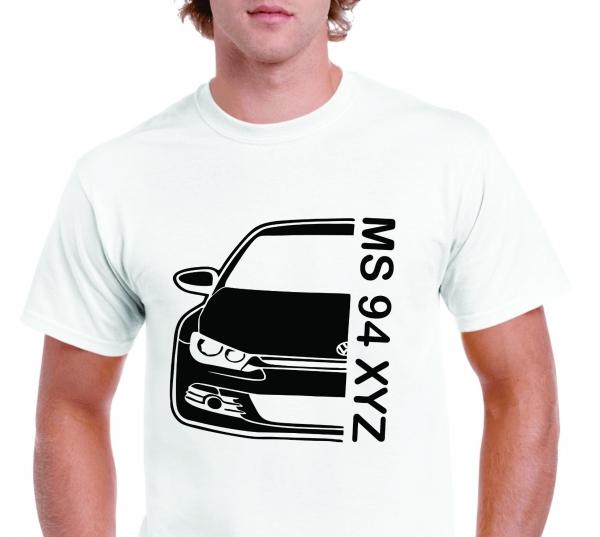 Tricou Personalizat Auto - VW Scirocco GT cu nume sau numar 1