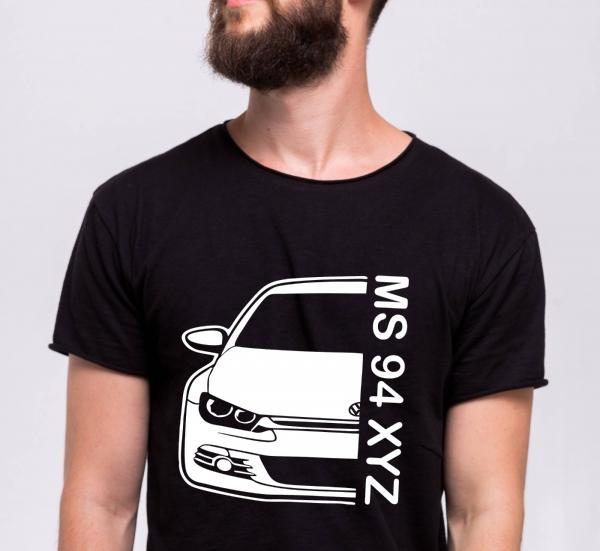 Tricou Personalizat Auto - VW Scirocco GT cu nume sau numar 0