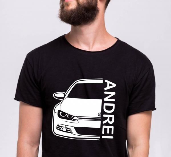 Tricou Personalizat Auto - VW Scirocco GT cu nume sau numar 2
