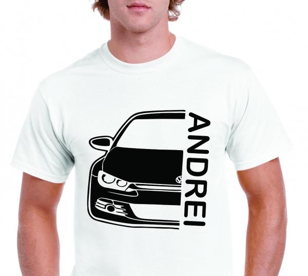 Tricou Personalizat Auto - VW Scirocco GT cu nume sau numar 3