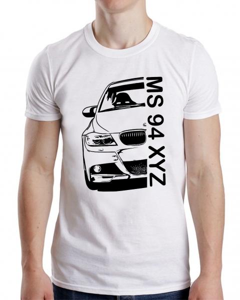 Tricou personalizat auto - BMW E90 Nume sau Numar