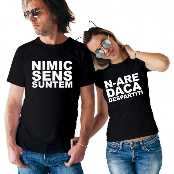 Tricouri Cuplu Personalizate - Nimic N-are Sens 0